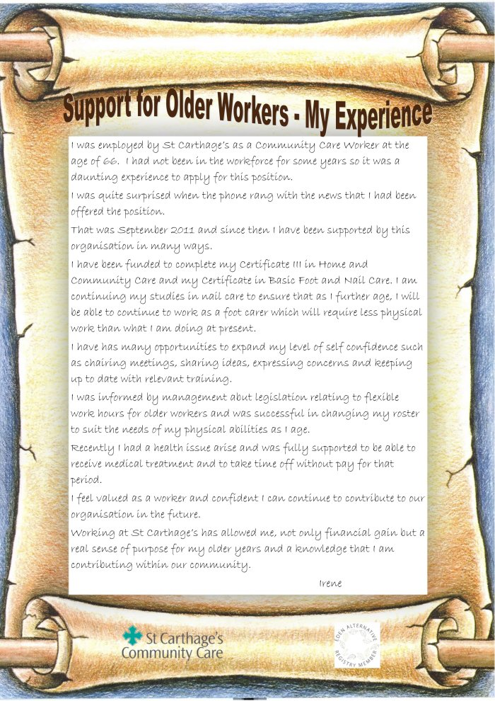 20 Support for Older Workers   Irene